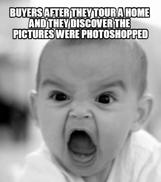 Home Buyers anger over photoshopped real estate pictures Meme