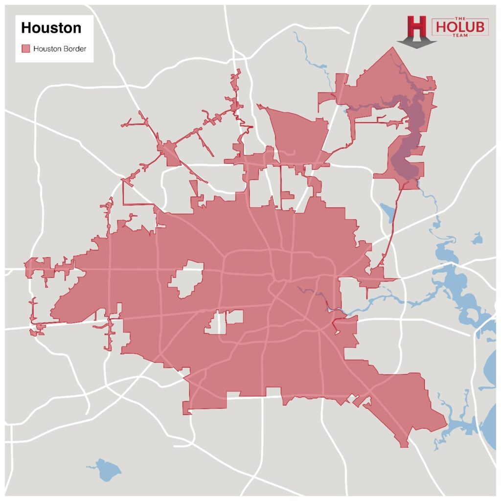 Houston Statistics and Areas Map