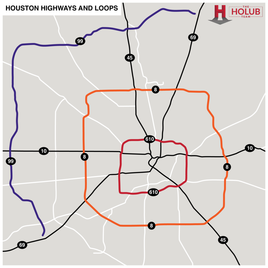 Houston Highways and Loops Map
