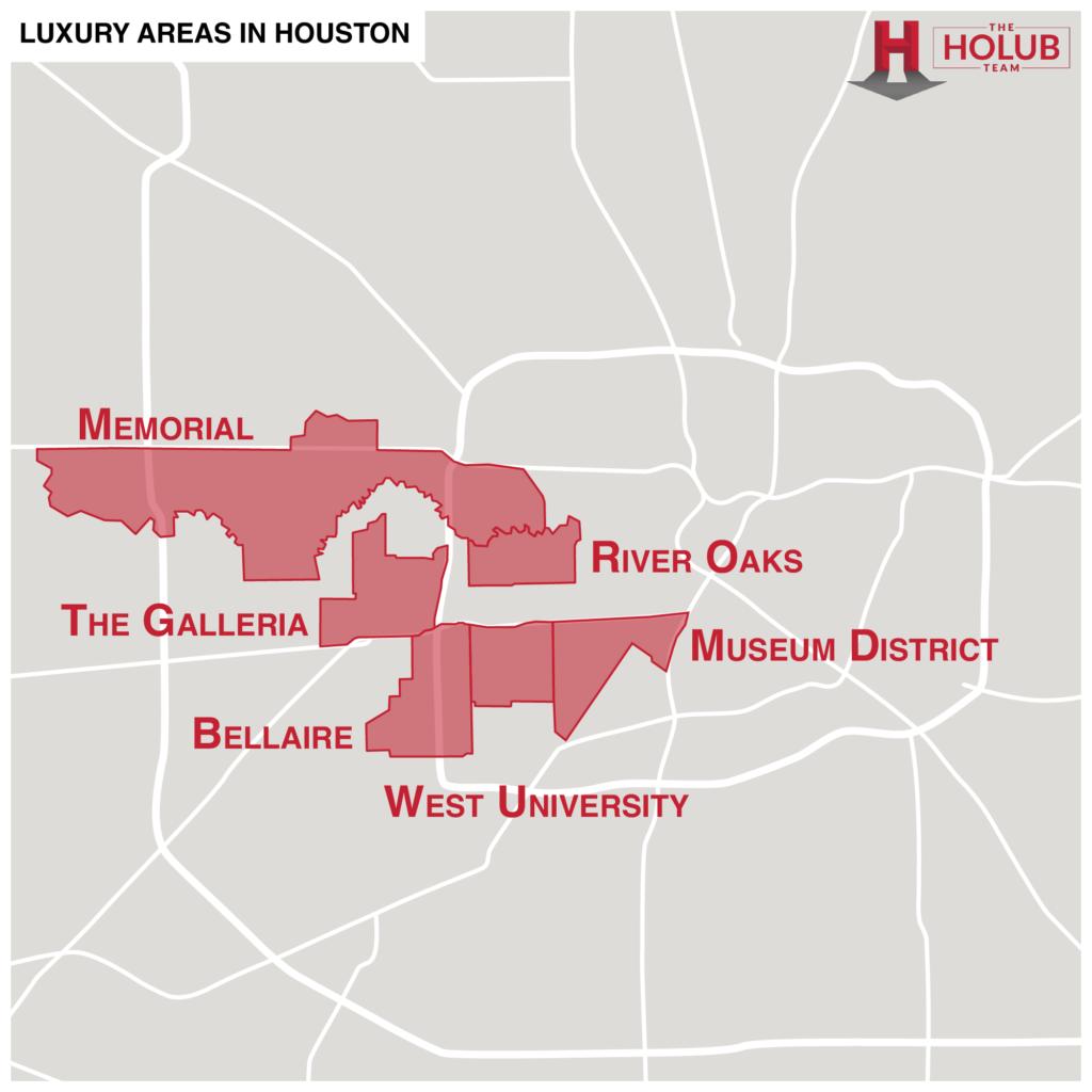Luxury Areas in Houston Map